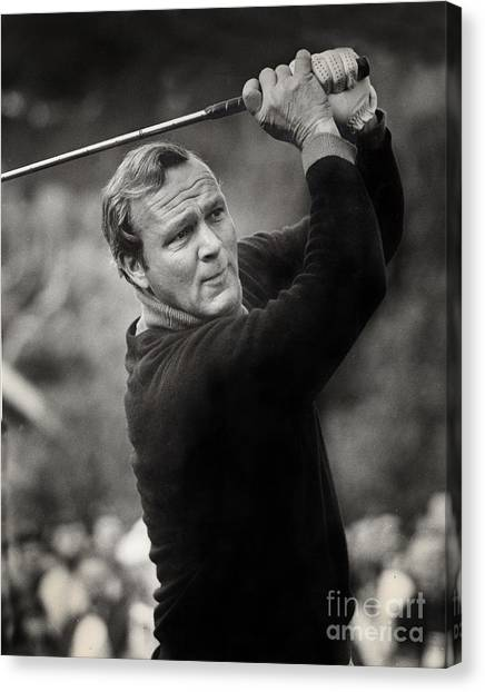 Arnold Palmer Pro-am Golf Photo Pebble Beach Monterey Calif. Circa 1960 Canvas Print