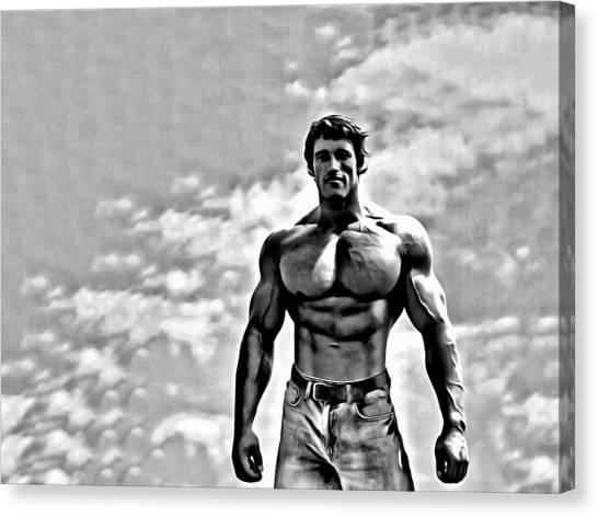 Arnold Schwarzenegger Canvas Print - Arnold Schwarzenegger by Florian Rodarte