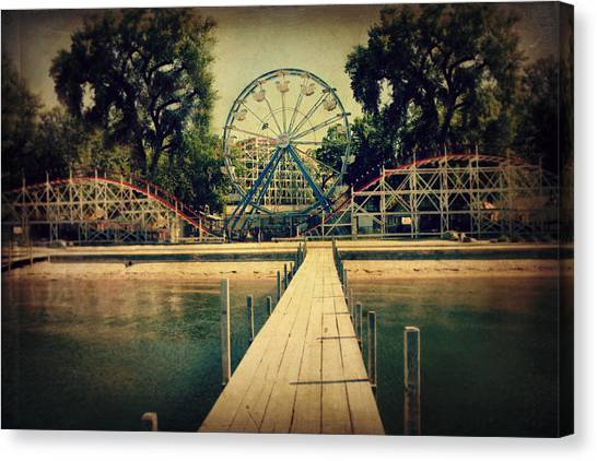 Fair Canvas Print - Arnolds Park by Julie Hamilton