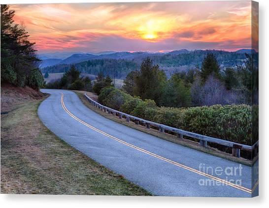 Around The Bend - Blue Ridge Parkway Canvas Print