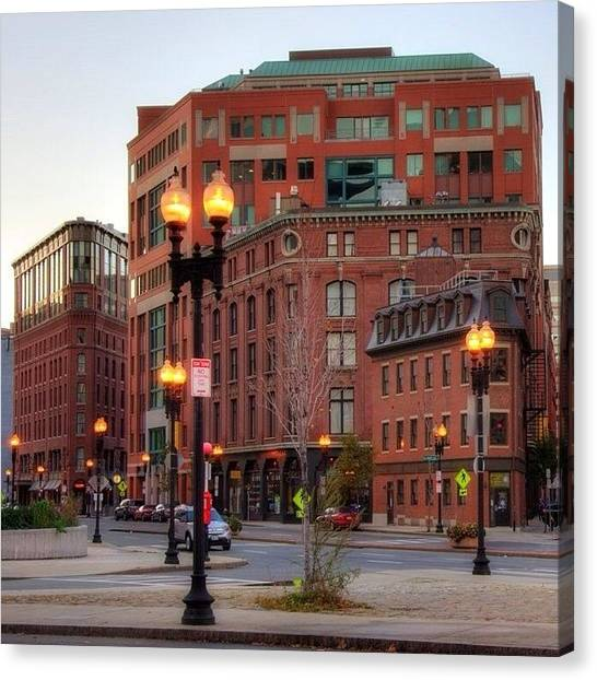 Massachusetts Canvas Print - Around Town #alemy #boston #bostonusa by Joann Vitali