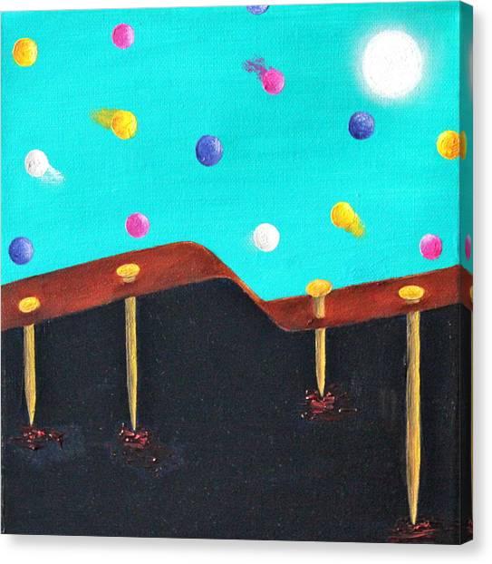 Arrival Of A Migraine Canvas Print by Margarita Gokun