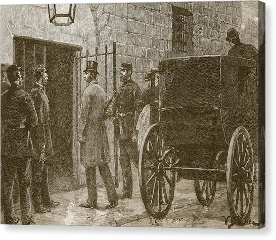 1880s Canvas Print - Arrival Of Mr Parnell At Kilmainham by William Barnes Wollen