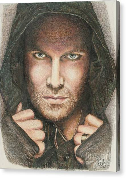 Arrow / Stephen Amell Muted Canvas Print
