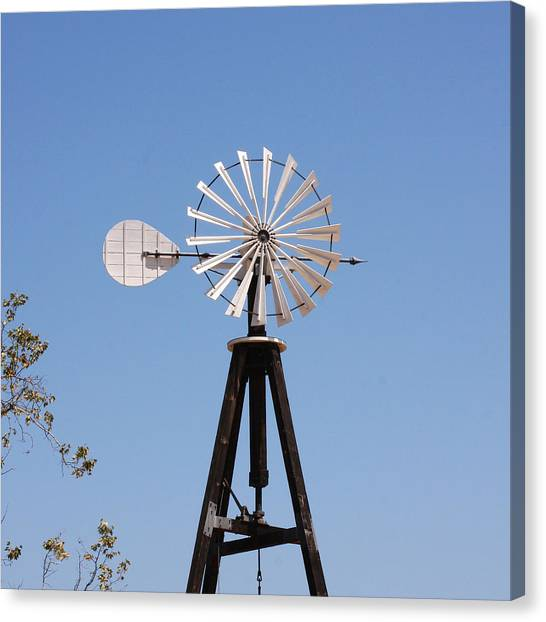 Old Town San Diego Canvas Print - Arrow Windmill by Art Block Collections