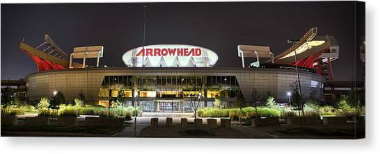 Kansas City Chiefs Canvas Print - Arrowhead Night by Thomas Zimmerman