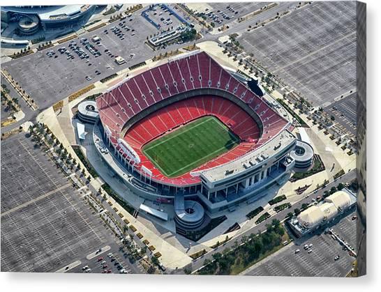 Mls Canvas Print - Arrowhead Stadium by Georgia Fowler