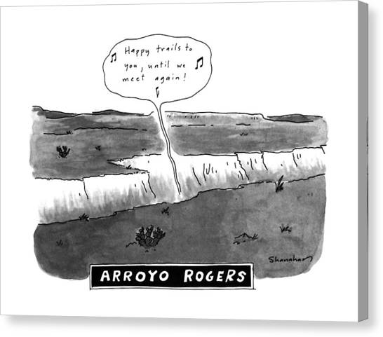 Ditch Canvas Print - Arroyo Rogers by Danny Shanahan