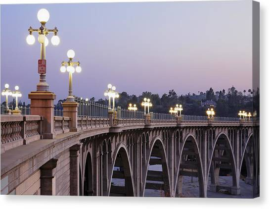 Arroyo Seco Bridge Pasadena Canvas Print