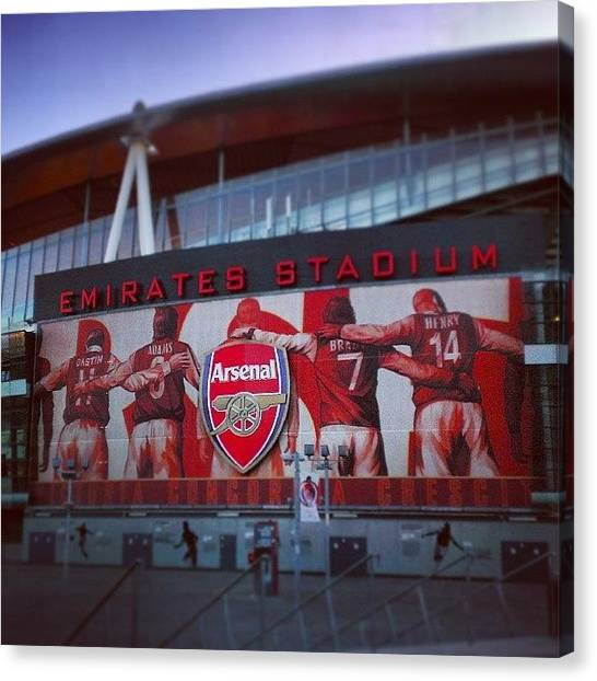 Arsenal Fc Canvas Print - @arsenal Stadium #emirates #stadium by Mateusz Plaza