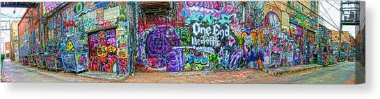 Art Alley Panorama Canvas Print