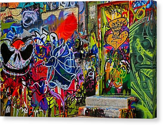 Art Alley Three Canvas Print