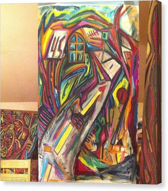 Syracuse University Canvas Print - #art #artist #painter #paint #paris by Nate West