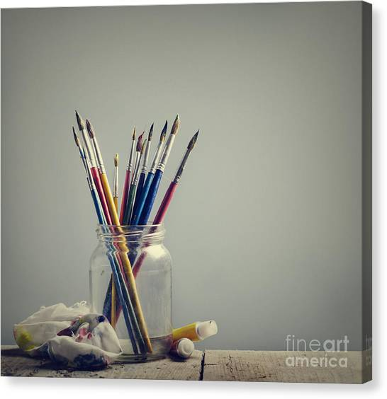 Art Brushes Canvas Print