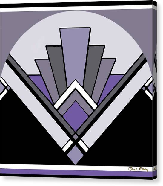 Art Deco Pattern Two - Purple Canvas Print