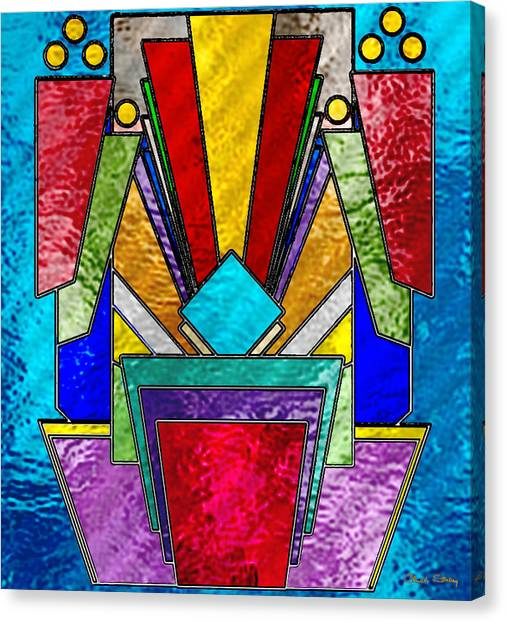 Art Deco - Stained Glass 6 Canvas Print