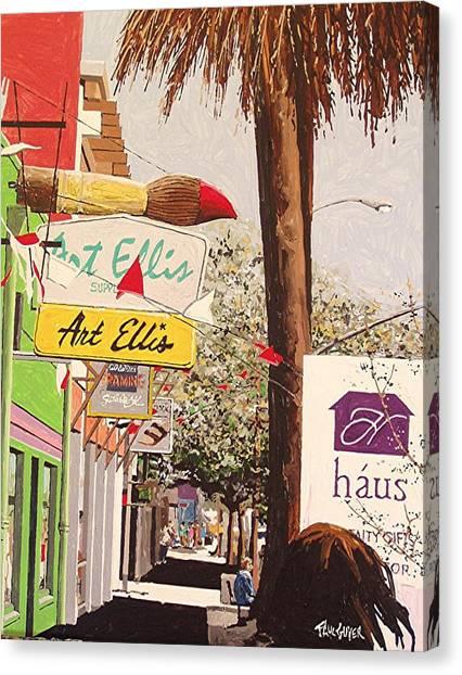 Art Ellis In Midtown Canvas Print by Paul Guyer
