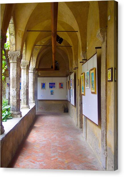 Art Gallery In A Monastery Canvas Print