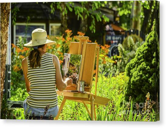 Art In The Garden Canvas Print