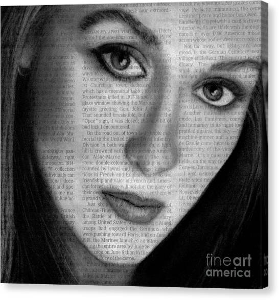 Art In The News 34- Meryl Streep Canvas Print