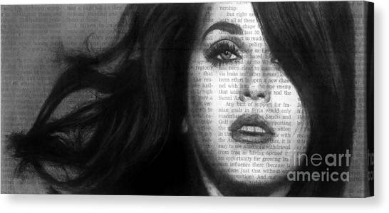 Art In The News 37- Katy Perry Canvas Print