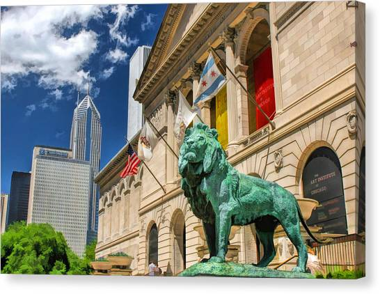 Art Institute In Chicago Canvas Print