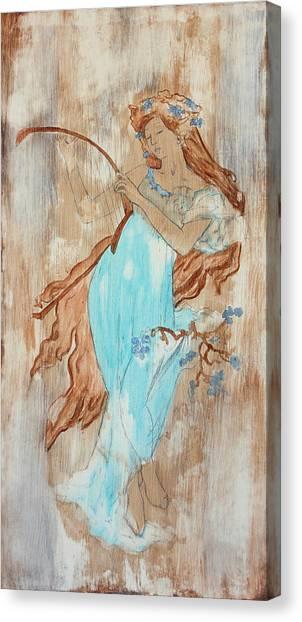 Art Nouveau Canvas Print - Art Nouveau Blue 2 by Laura OConnell