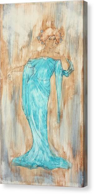 Art Nouveau Canvas Print - Art Nouveau Blue 3  by Laura OConnell