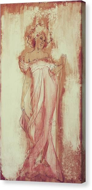Art Nouveau Canvas Print - Art Nouveau Pink 1 by Laura OConnell