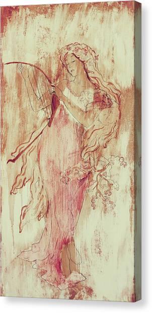 Art Nouveau Canvas Print - Art Nouveau Pink 2 by Laura OConnell