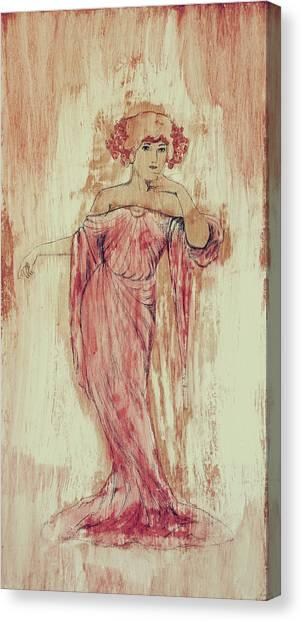 Art Nouveau Canvas Print - Art Nouveau Pink 3 by Laura OConnell