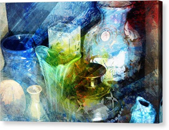 Art Pottery Still Life In Light And Color Canvas Print