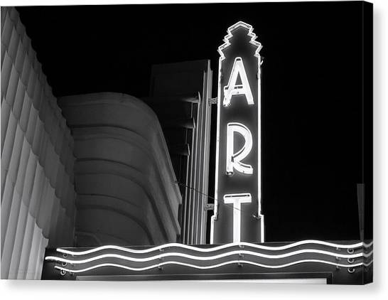 Art Theatre Long Beach Denise Dube Canvas Print