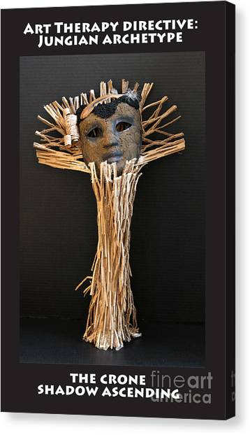 Canvas Print - Art Therapy Directive Archetype Mask by Anne Cameron Cutri