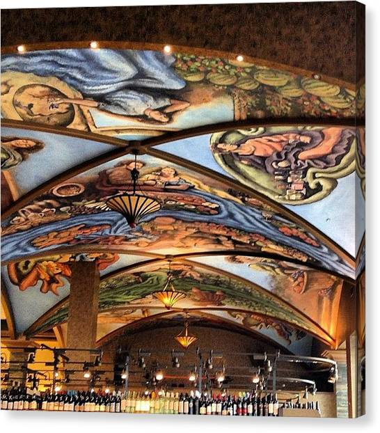 Vault Canvas Print - #art #vaulted #ceiling #painting by Chrisi Spooner
