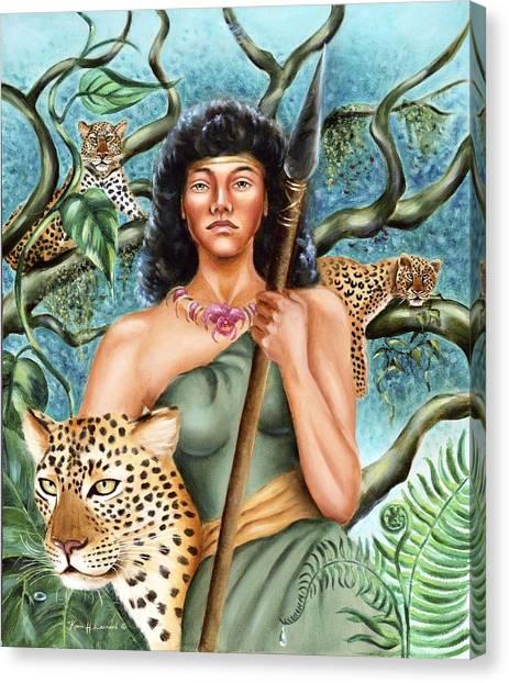 Warrior Goddess Canvas Print - Artemis by Karin  Leonard
