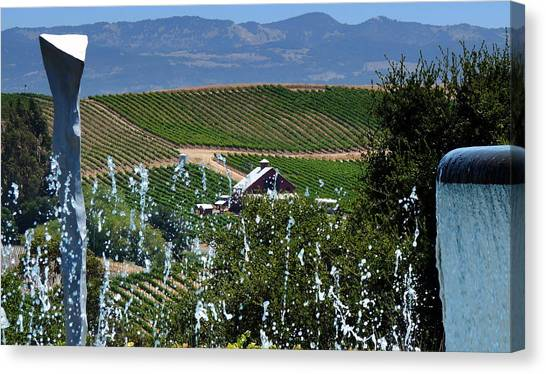 Artesa Vineyards And Winery Canvas Print