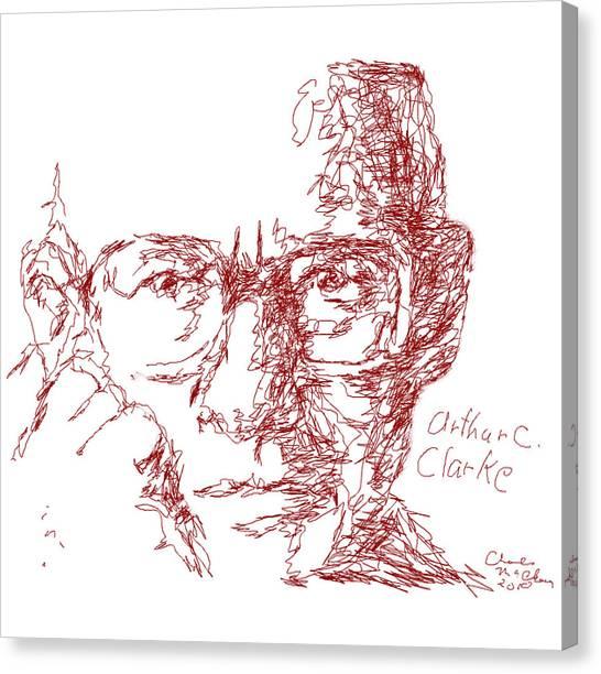 Arthur C. Clark Canvas Print