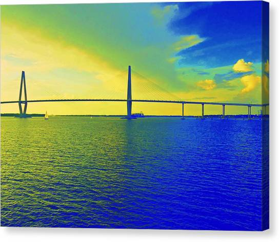 Arthur Ravenel Bridge 19 Canvas Print