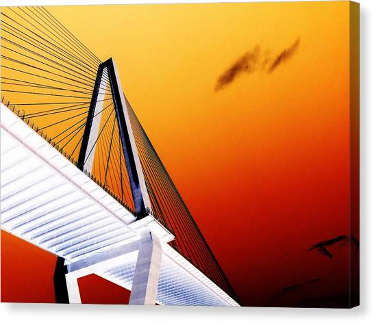 Arthur Ravenel Bridge 25 Canvas Print by Ron Kandt