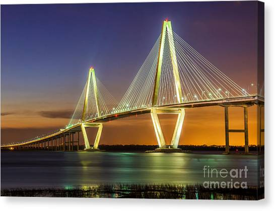 Arthur Ravenel Bridge Charleston Sc Canvas Print