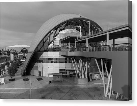 Anaheim Ducks Canvas Print - Artic Station In Anaheim 9 - Black And White by Nadim Baki