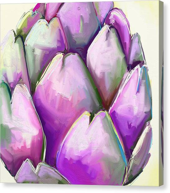 Vegetables Canvas Print - Artichoke 1 by Cathy Walters