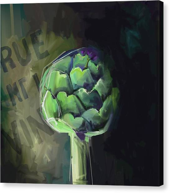 Green Canvas Print - Artichoke #3 by Cathy Walters