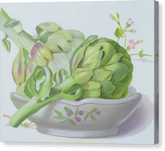 Artichoke Canvas Print - Artichokes by Lizzie Riches
