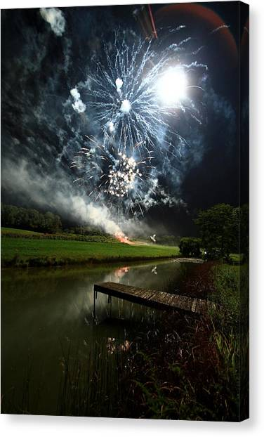 Artificial Illumination Canvas Print by Cody Arnold
