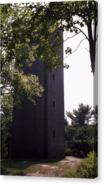 Artillery Spotting Tower Canvas Print by David Fiske