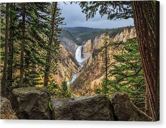 Artist Point Lower Falls   Canvas Print