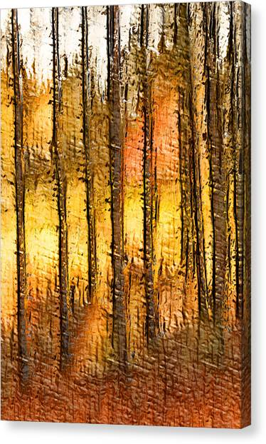 Artistic Fall Forest Abstract Canvas Print