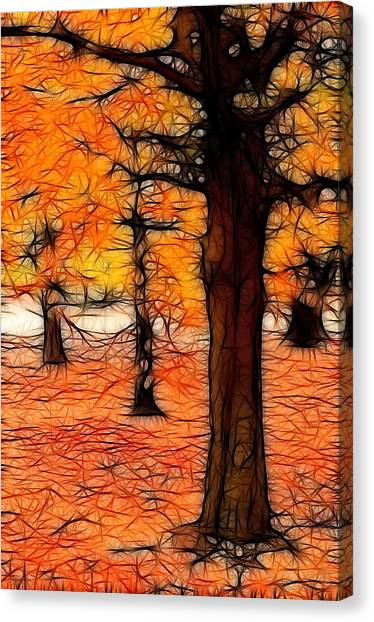 Artistic Fall Trees Canvas Print